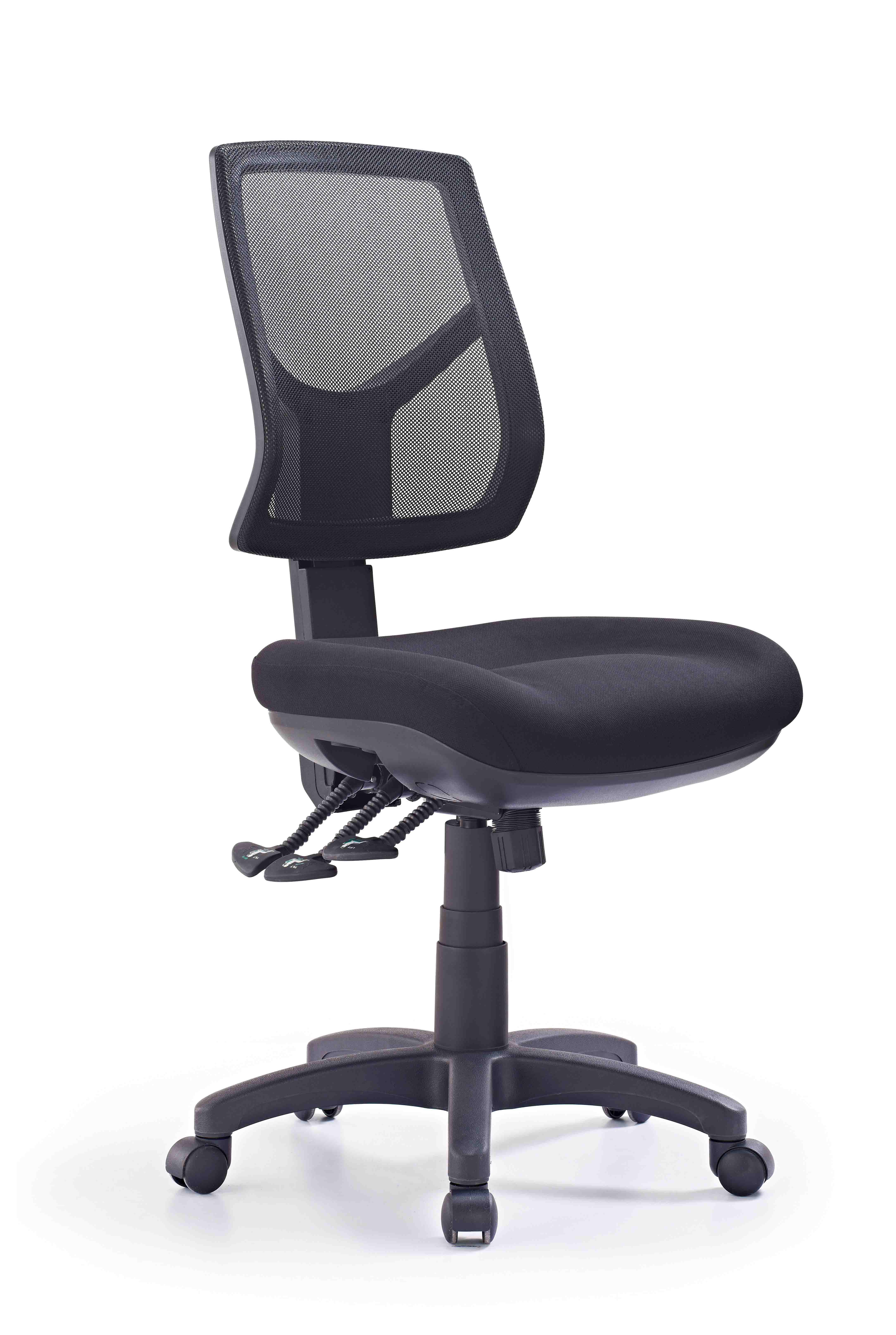 hino mesh high back chair without arms black fabric stuart and