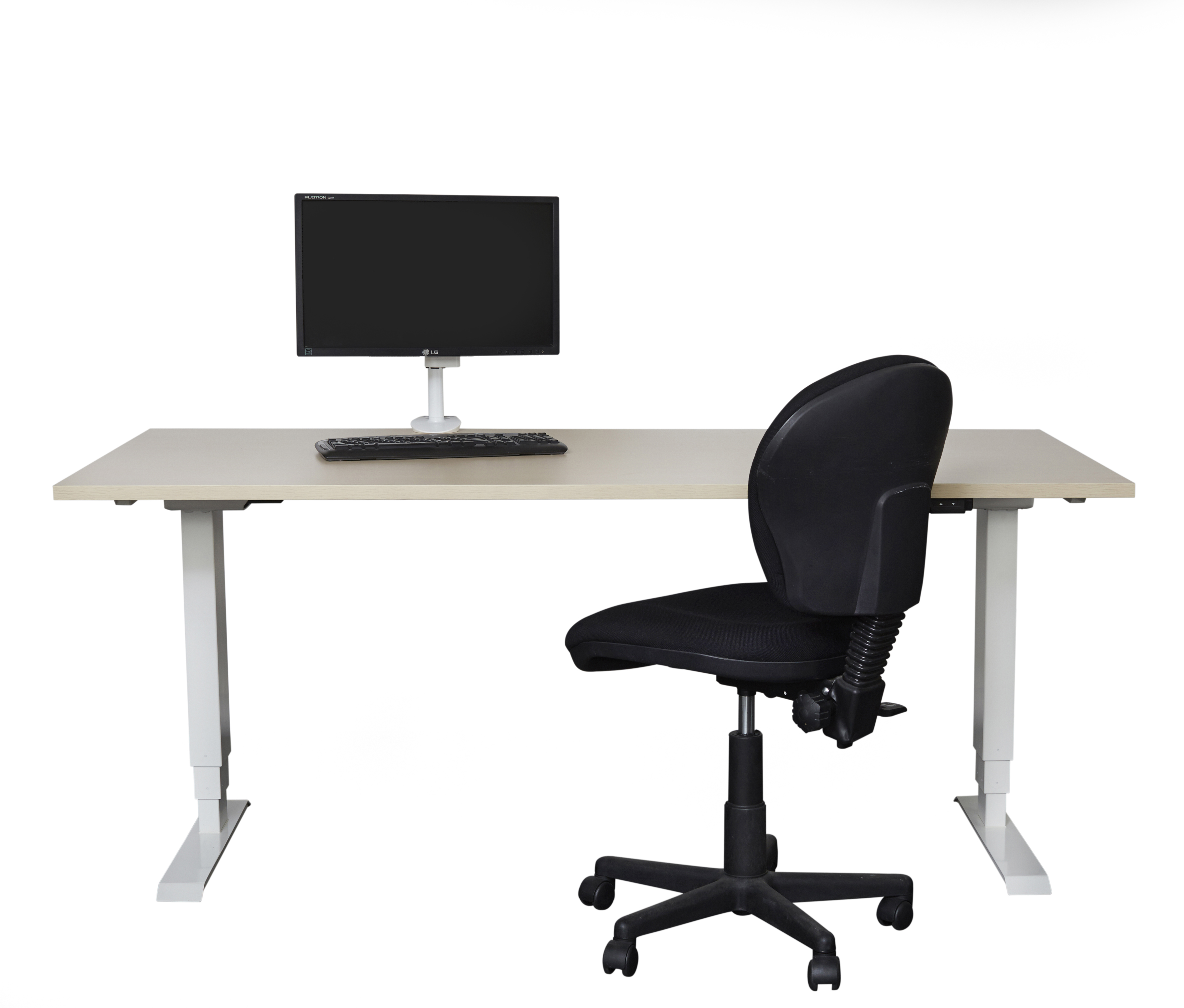 Elevar Electric Sit Stand Straight Desk 1800w X 750d With
